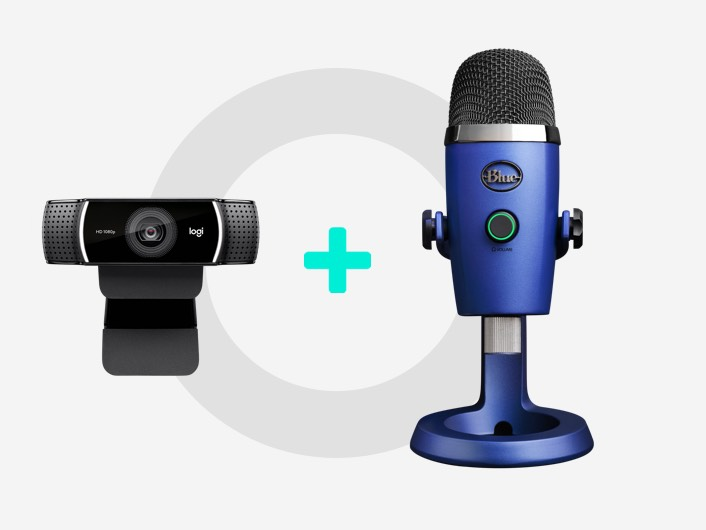 C922 and Blue Yeti Nano Microphone