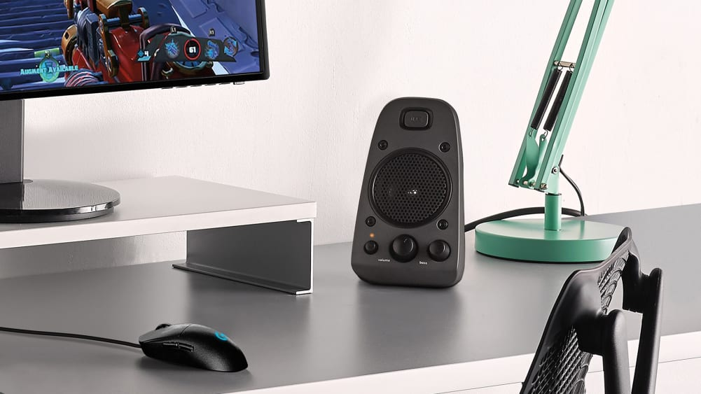 Gaming setup with thx certified speakers