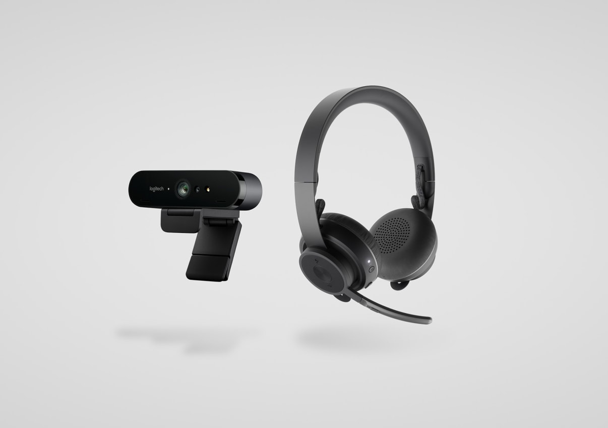 Professional collaboration headset and webcam kit