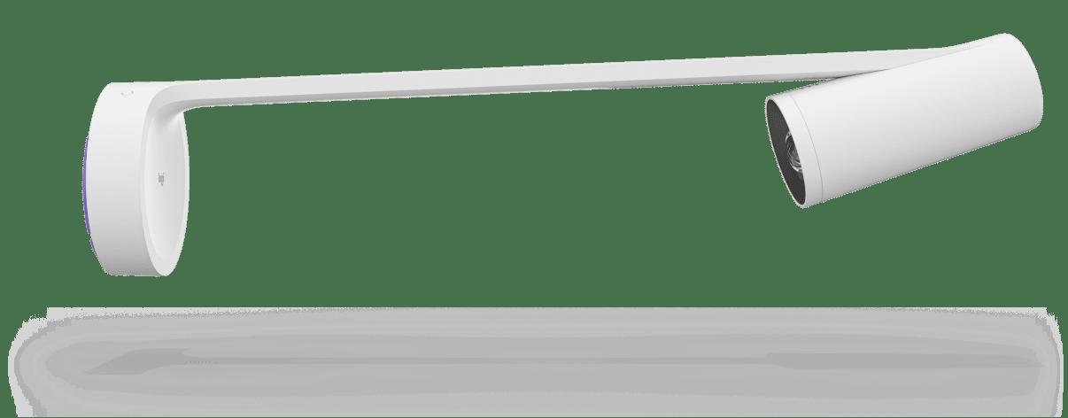 Logitech Scribe, uma câmera para quadro branco com IA para espaços de trabalho modernos.