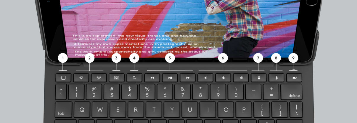 Folio Touch  shortcut keys with annotations