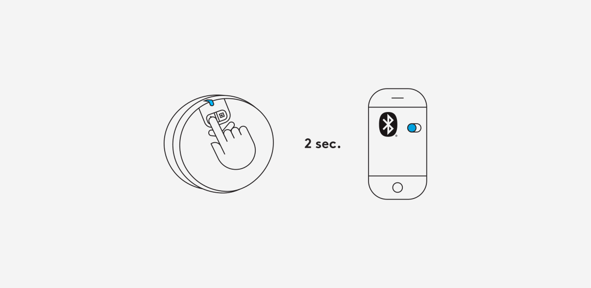 Long press 2 seconds on the Bluetooth button to activate pairing.