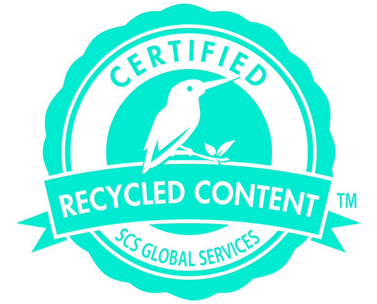 Certified recycled plastic