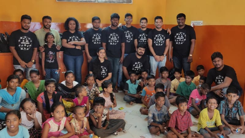 Logitech volunteers at Anaikkum Karangal children's shelter