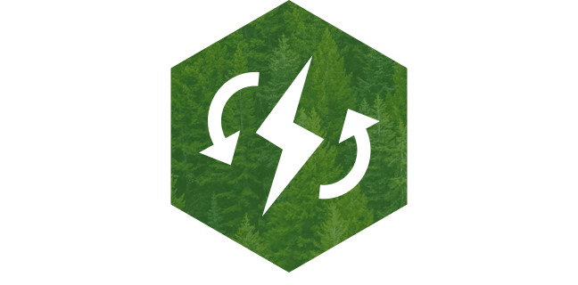 Renewable charging icon