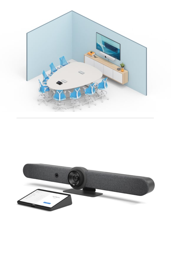 Medium room video conferencing equipment