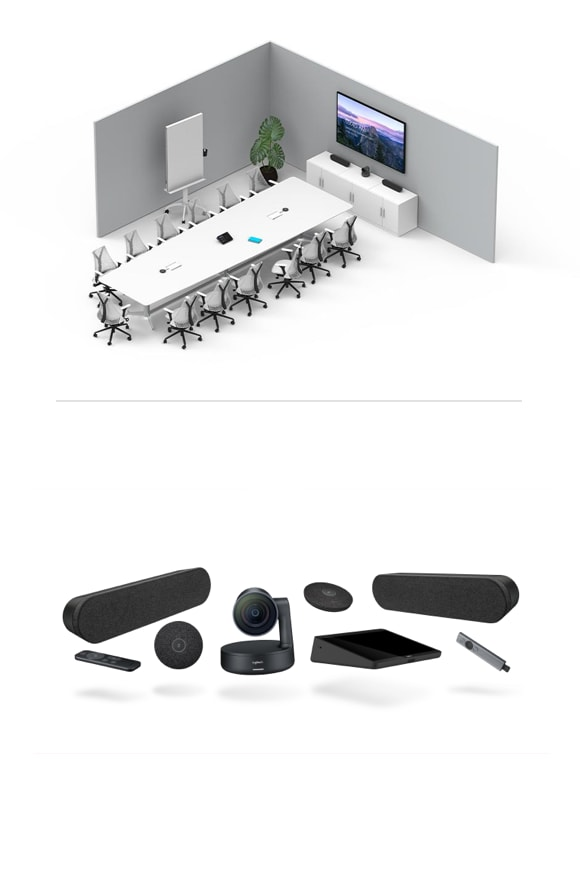Large room pc video conferencing solution