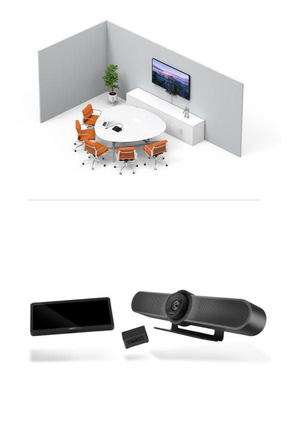 Small room pc video conferencing solution