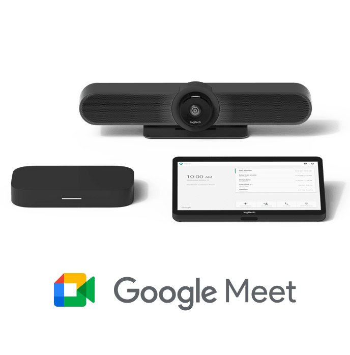 Logitech + Intel + Google Meet products