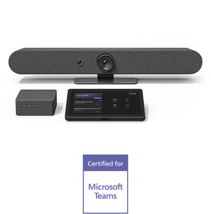 Logitech + Intel + Microsoft Teams products