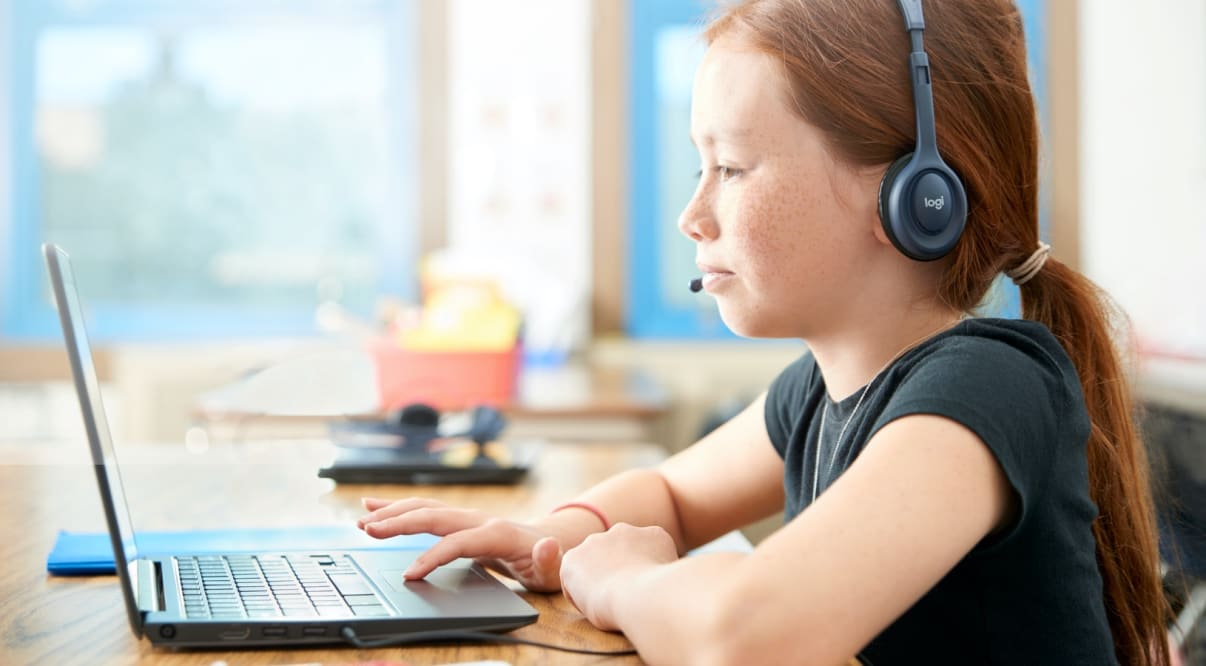 Logitech products makes learning from home easier