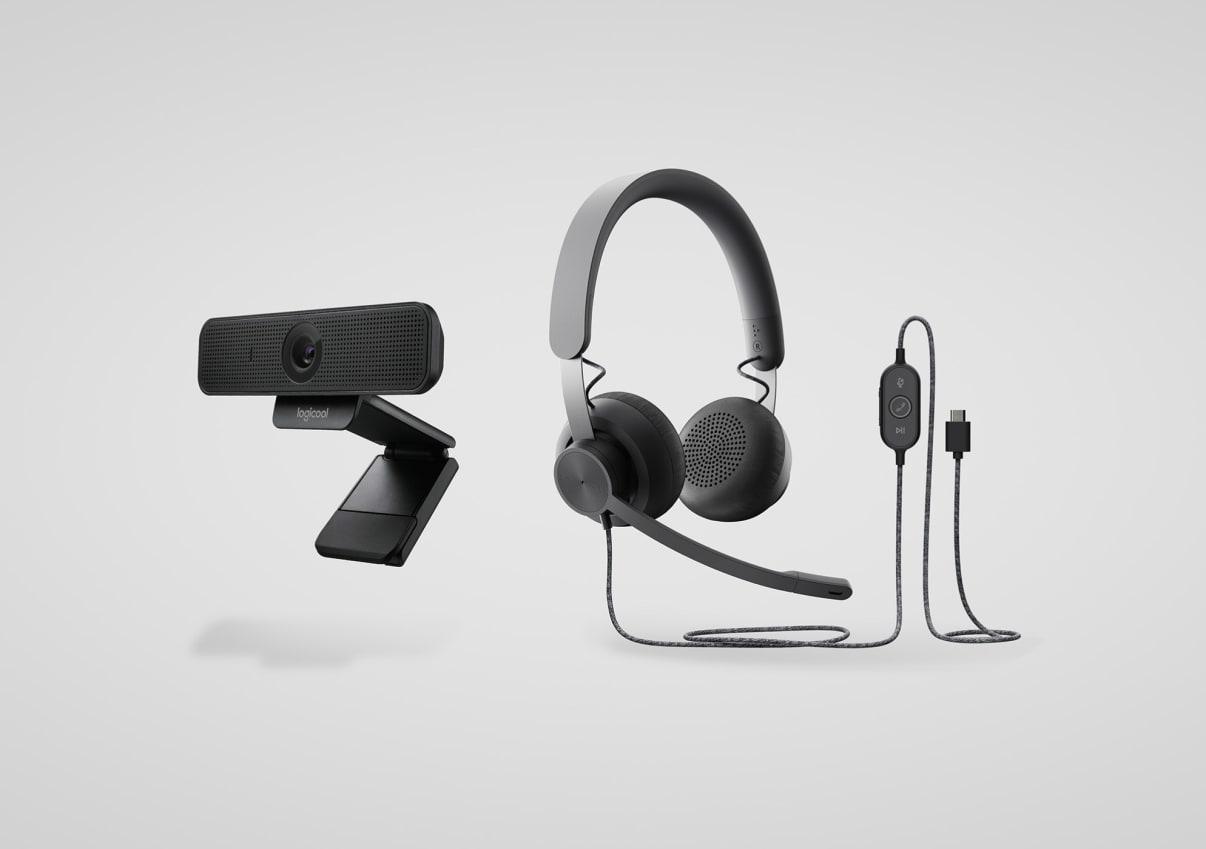 パーソナル コラボレーション ヘッドセットとウェブカメラ キット