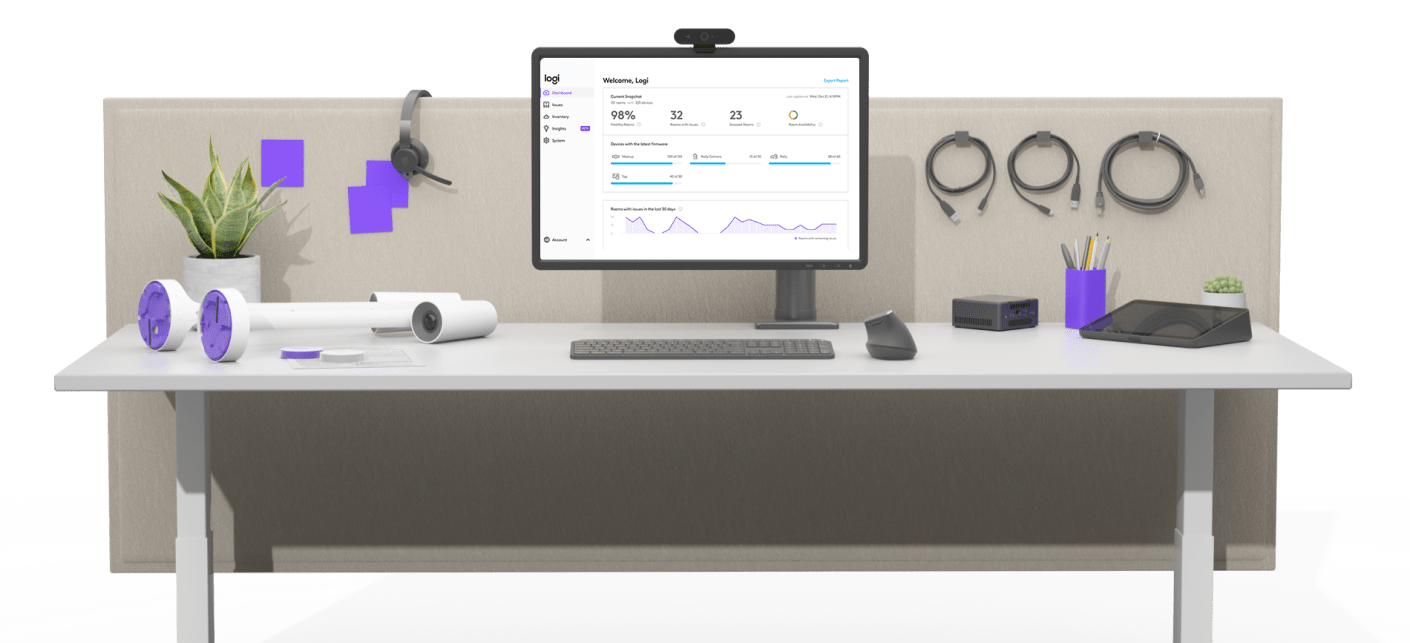 simple to manage with Logitech Sync