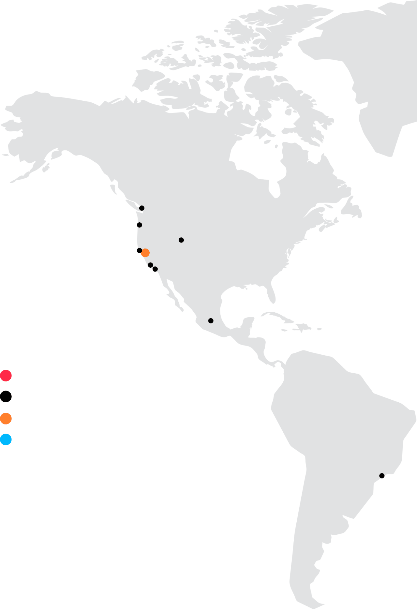 南米アメリカ地図
