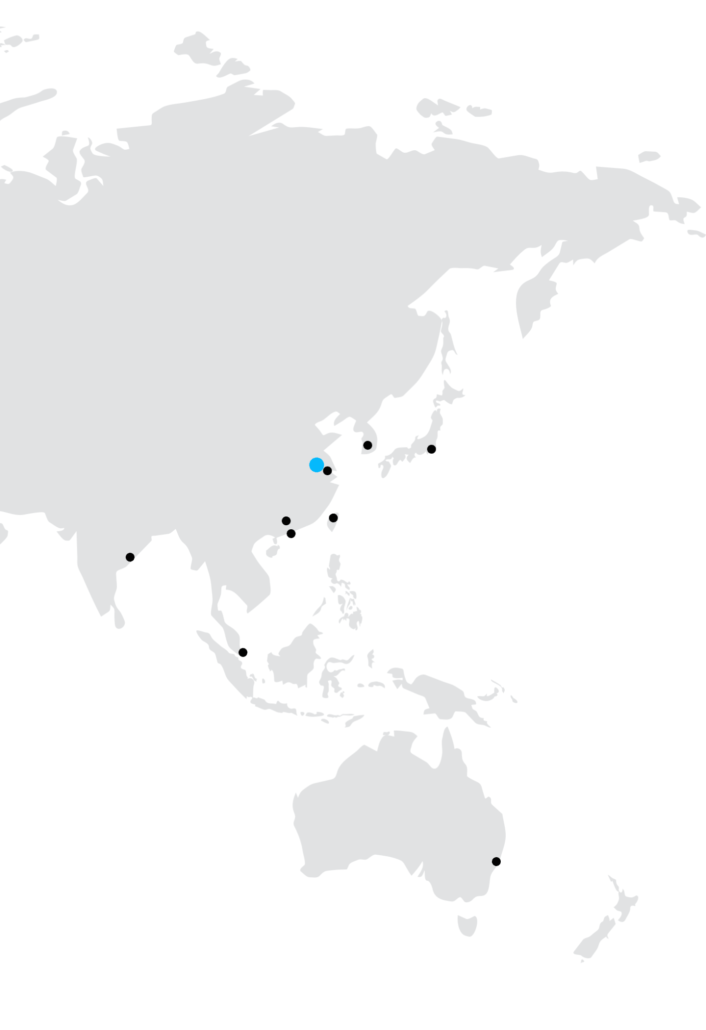 Asia and Oceania map