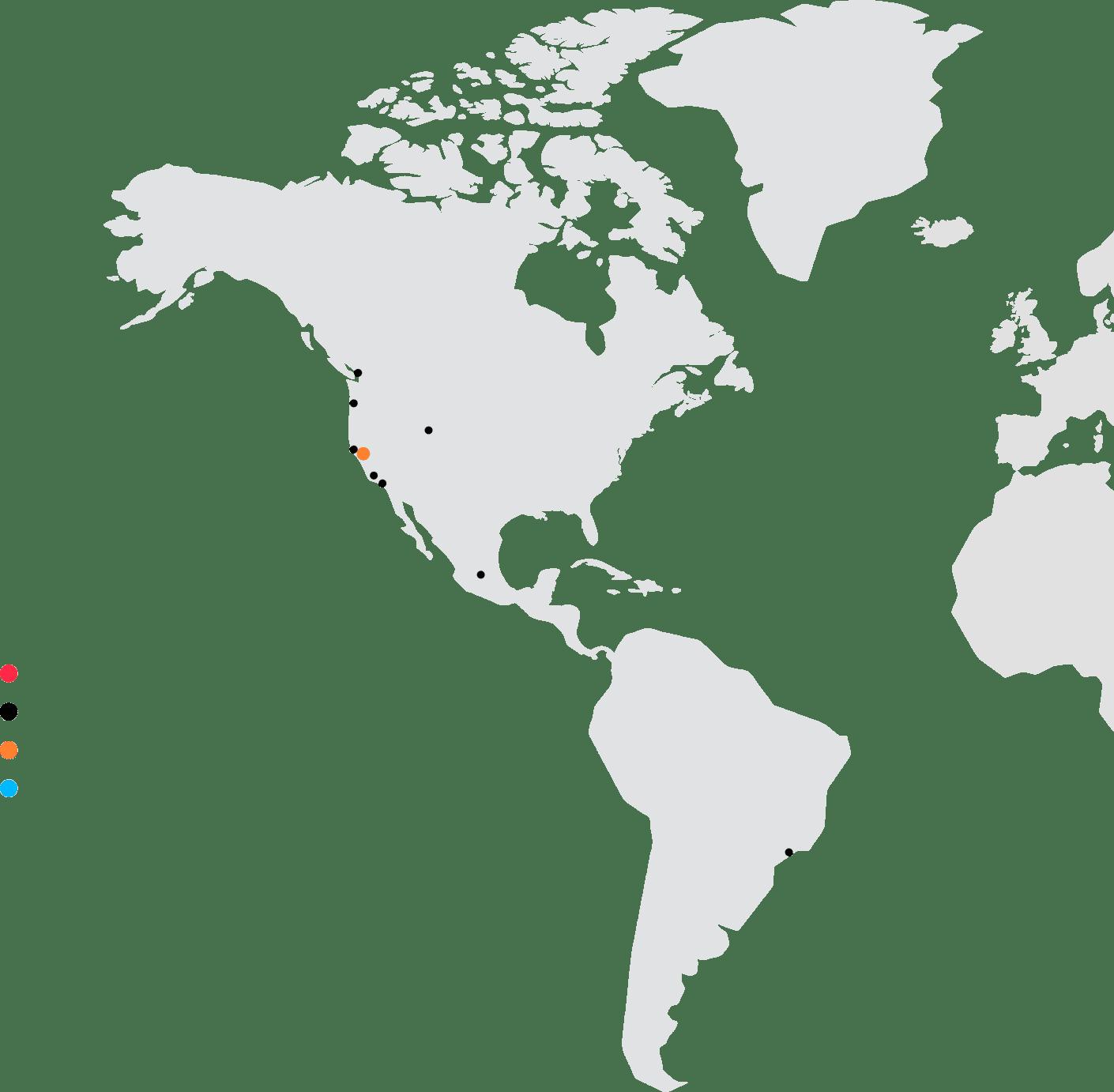 Karte: Nord- und Südamerika