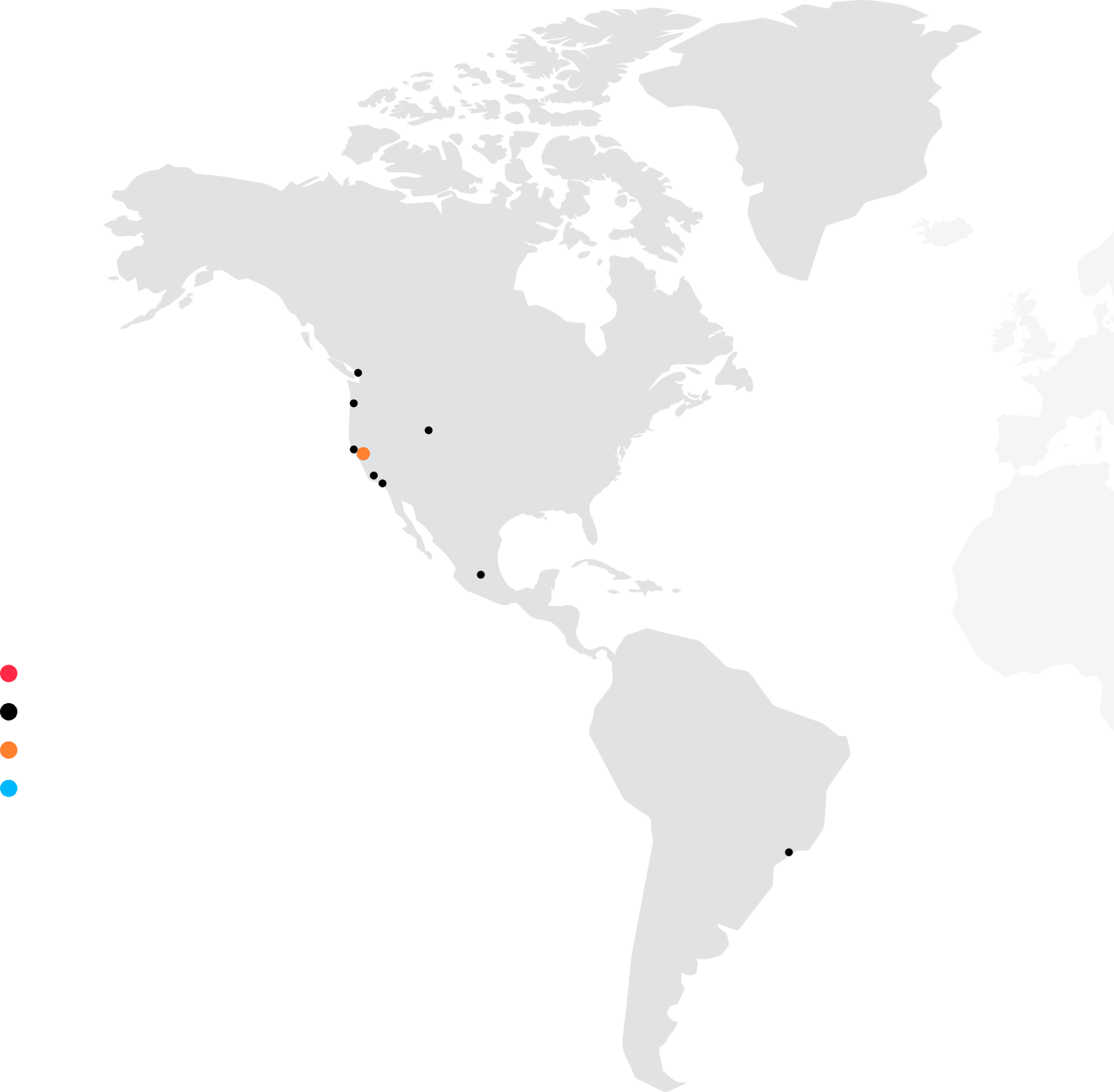 Mapa Ameryk