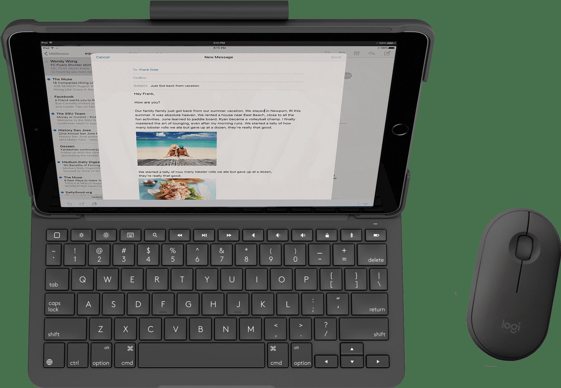 iPad avec souris sans fil portable Pebble i345