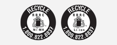 Etiqueta de Call2recycle