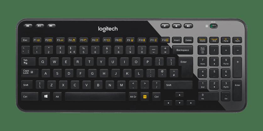 | Kompakt ve ince kablosuz klavye