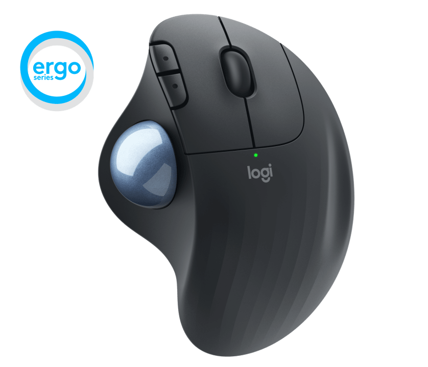 | Wireless thumb-operated trackball for all-day comfort