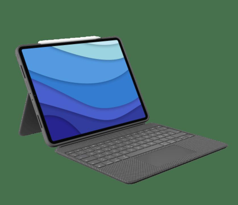 | Taustavalaistu näppäimistökotelo ohjausalustalla 12,9-tuumaiselle iPad Prolle (5. sukupolvi) ja 11-tuumaiselle iPad Prolle (1., 2. ja 3. sukupolvi)