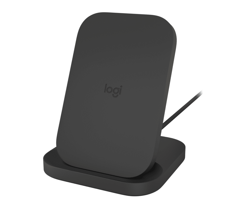 | 10W wireless charging stand for phones and AirPods.
