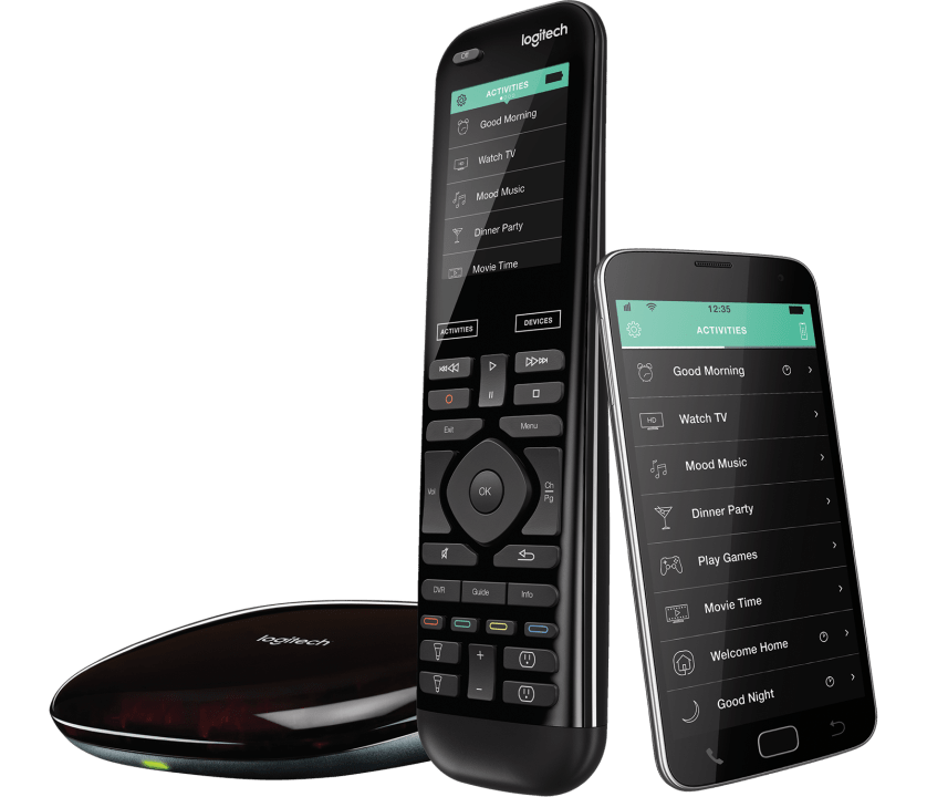 | Universal home control: remote, hub and app