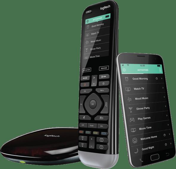 harmony pro remote control, smartphone app and hub