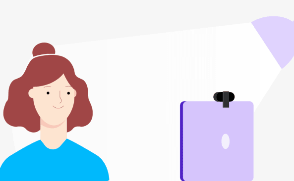 Illustration of a person with a lightsource pointed at them