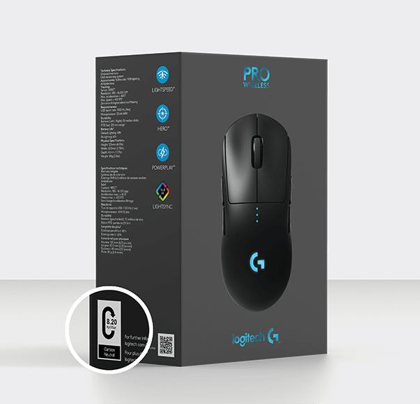 Transparencia en etiquetado de empaque de mouse
