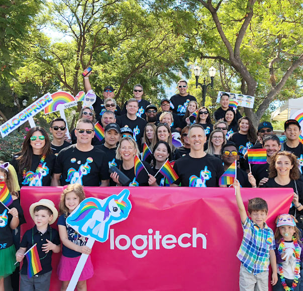 Logitech group photo at event