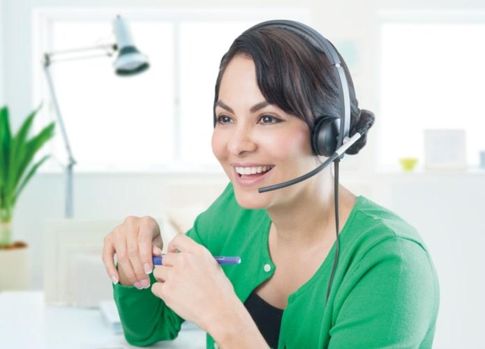 Virtuel undervisning med kablet headset