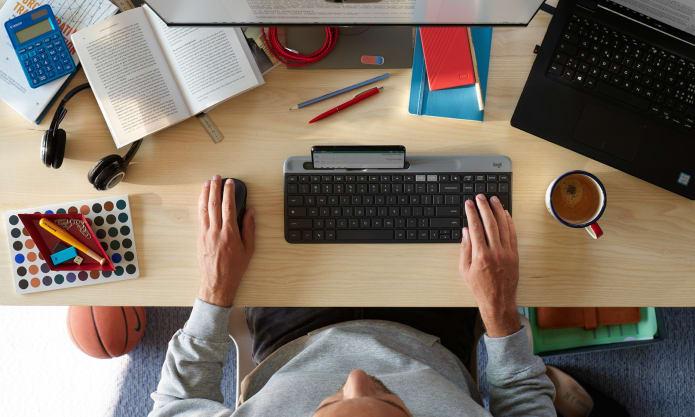 Space saving, comfortable keyboard