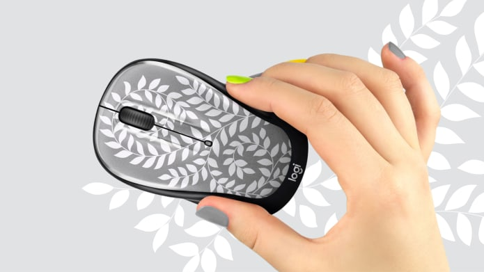 grey patterned computer mouse