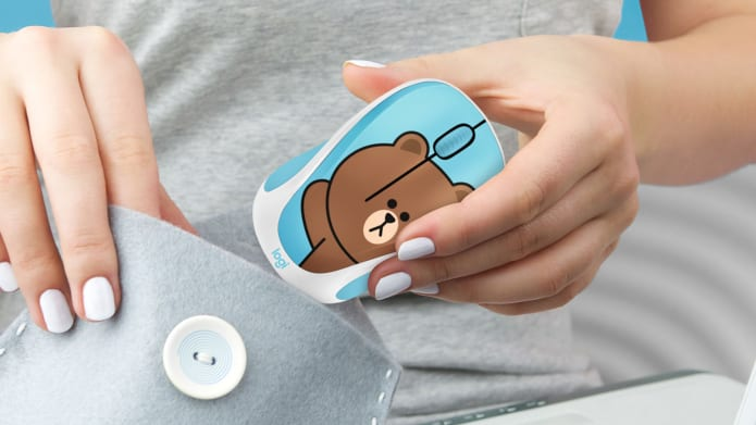 Line Wireless Mouse in Hand