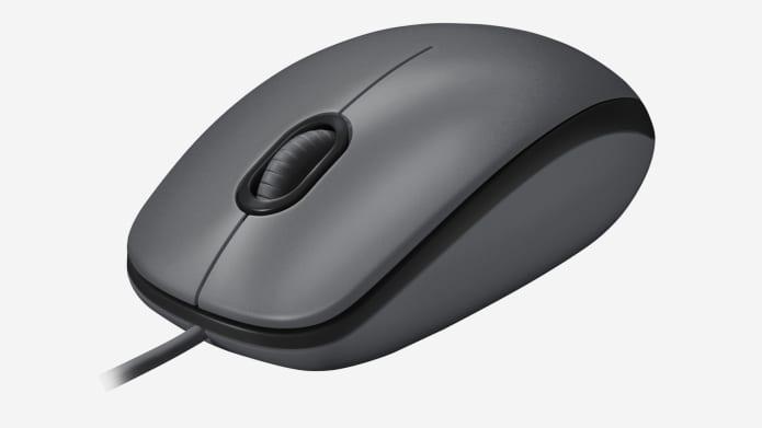 USB-мышь черного цвета