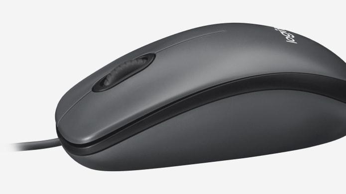 Проводная мышь черного цвета