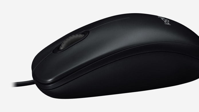 black wired mouse