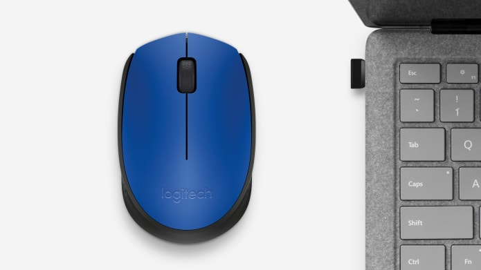 blue wireless computer mouse