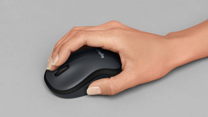 hand gripping wireless mouse