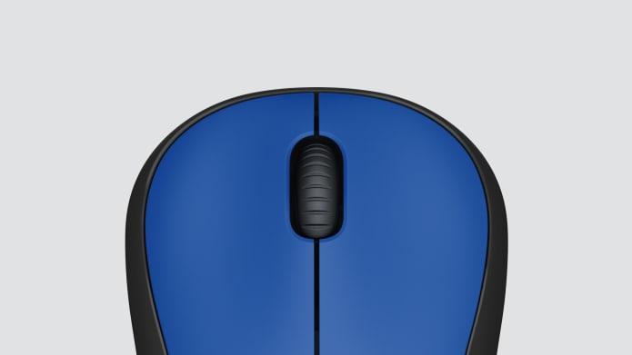 kék vezeték nélküli egér