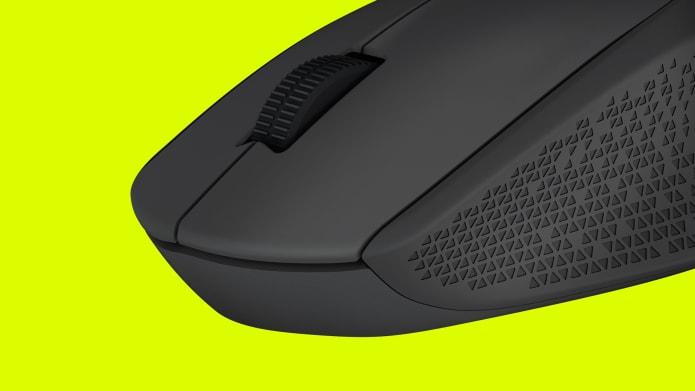 Kabellose Maus mit gummiertem Scrollrad