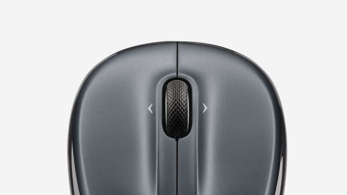 Grey wireless mouse
