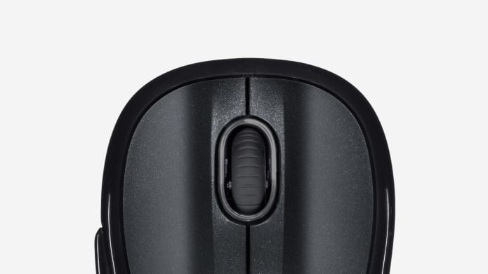 crop of black scroll mouse