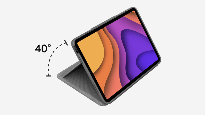 Folio Touch showing 40 degree angle flexibility