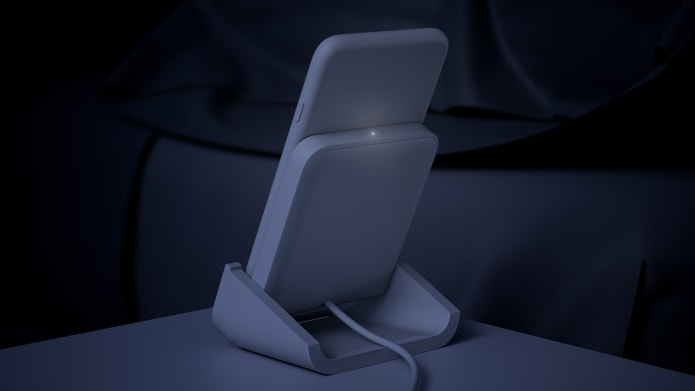 iPhone charging stand with indicator light