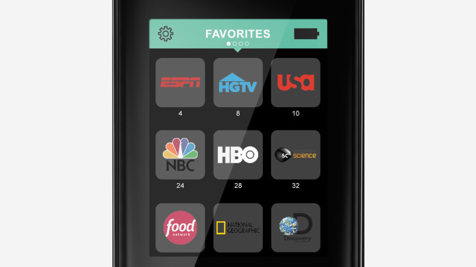 favorite channels shown on harmony remote