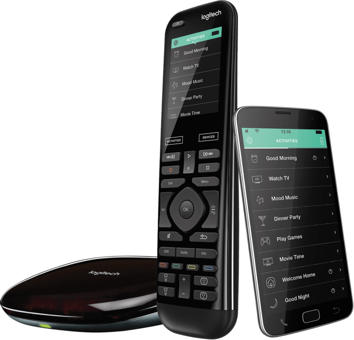 harmony elite remote control, smartphone app and hub
