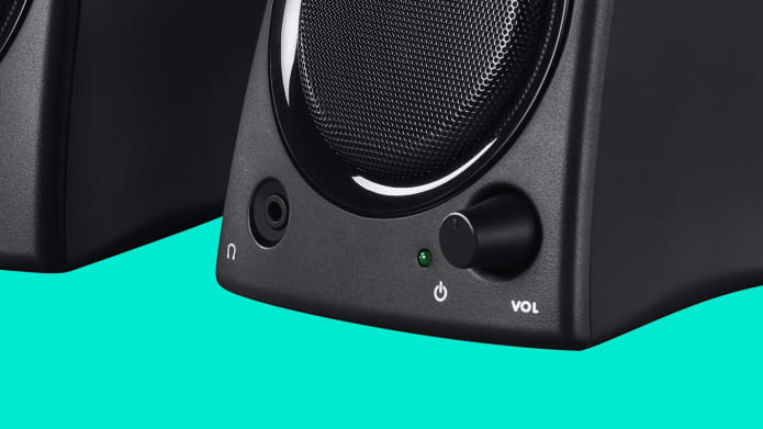 speaker with headphone jack and volume control